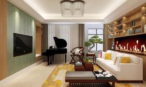新中式风格两室两厅室内装修效果图赏析