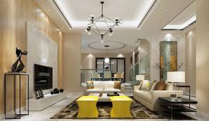 155平米现代简约风格大户型室内装修效果图赏析