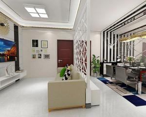 88平米现代简约风格两室两厅一卫装修效果图