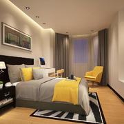 现代简约风格精装卧室装修效果图
