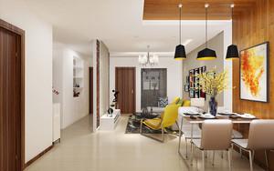 现代简约风格客厅玄关隔断设计装修效果图赏析