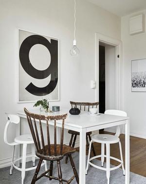北欧风格单身公寓小餐厅装修效果图赏析