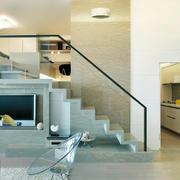 现代简约风格错层楼梯设计效果图赏析