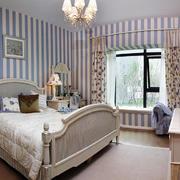 地中海风格三居室卧室飘窗设计效果图赏析