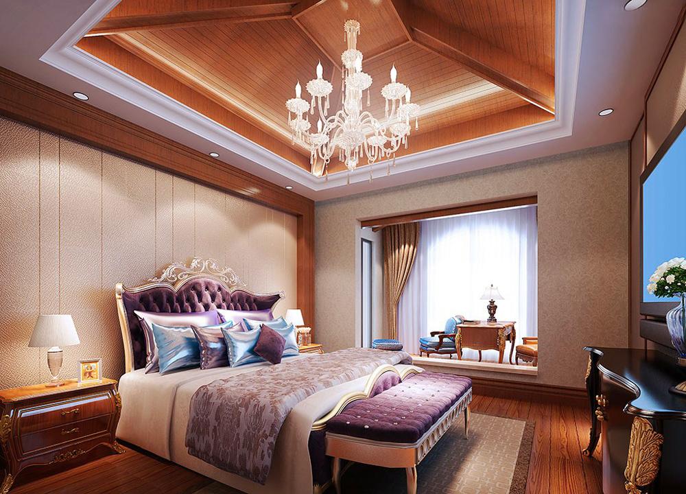法式风格大户型卧室吊顶装修设计效果图鉴赏