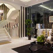 后现代风格复式楼楼梯设计效果图鉴赏