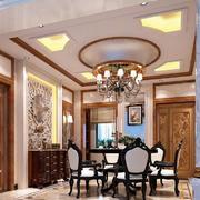 古典欧式风格别墅餐厅吊灯设计效果图赏析