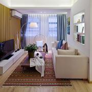 100平米现代风格客厅家装电视背景墙设计效果图