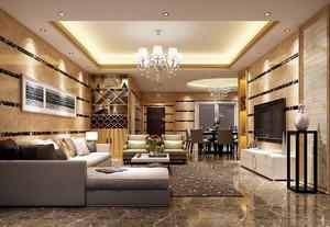 135平米欧式风格客厅大理石背景墙设计效果图