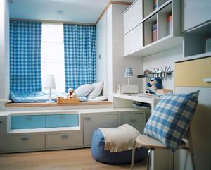简欧风格三居室儿童书房榻榻米设计效果图