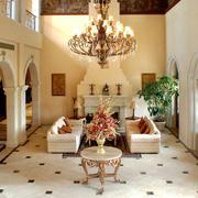 欧式风格别墅客厅吊灯设计效果图鉴赏