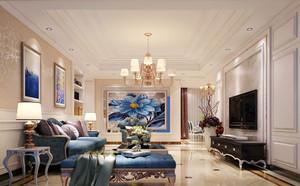 欧式风格大户型客厅家装客厅吊顶设计效果图赏析
