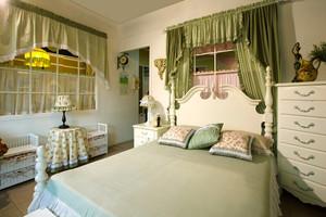 22平米欧式田园风格卧室装修效果图赏析
