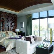 146平米东南亚风格卧室背景墙设计效果图鉴赏