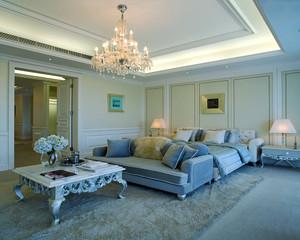 现代简约美式风格别墅主卧室吊顶装修效果图赏析