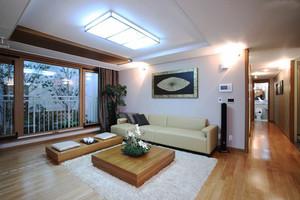 100平米现代中式风格客厅装修效果图赏析