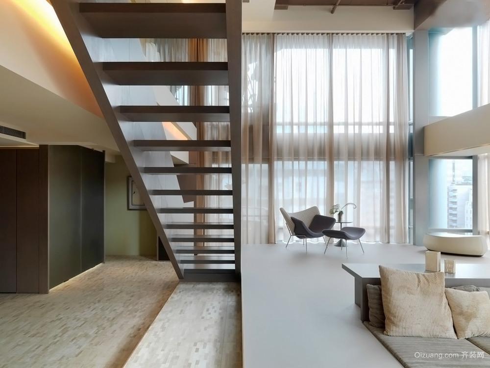 现代简约风格跃层楼梯设计效果图赏析