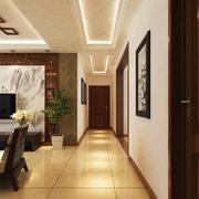 132平米中式风格客厅家装过道吊顶设计效果图