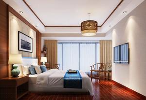 26平米中式风格卧室装修设计效果图赏析
