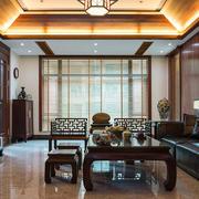 中式风格大户型客厅装修设计效果图赏析