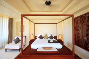 26平米中式风格卧室窗帘设计效果图赏析