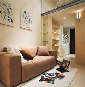 现代简约风格单身公寓室内装修设计效果图