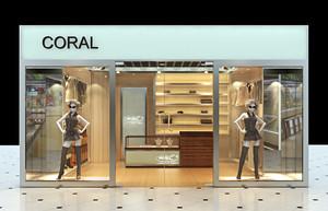 86平米现代简约风格服装店装修效果图赏析