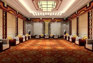 83平米现代中式风格会客厅装修设计效果图