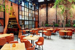 120平米后现代风格咖啡厅设计装修效果图鉴赏