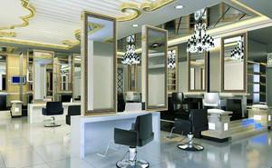 129平米现代简约风格美发店装修效果图鉴赏