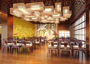 120平米中式风格餐厅装修效果图鉴赏