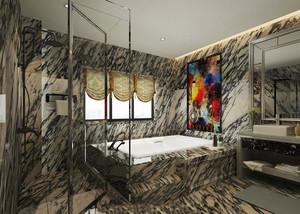 后现代风格别墅卫生间地砖装修效果图赏析