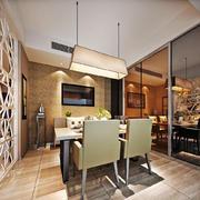 100平米现代风格客厅餐厅隔断设计效果图赏析