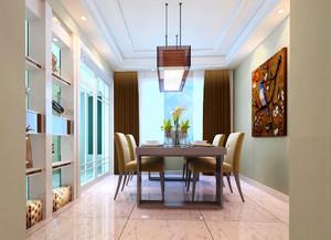现代简约风格三居室餐厅吊灯设计效果图赏析