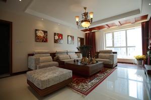 东南亚风格大户型室内装修效果图鉴赏