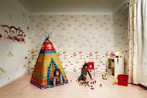 现代简约风格小户型儿童房墙纸效果图赏析