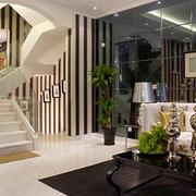 后现代风格复式楼楼梯设计效果图赏析