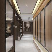 现代风格别墅客厅过道吊顶装修设计效果图