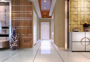 100平米现代简约风格过道走廊吊顶装修效果图