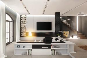 后现代风格复式楼客厅装修效果图赏析