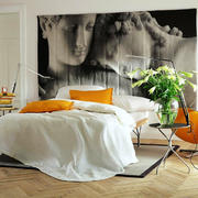 25平米后现代风格卧室背景墙壁画设计效果图赏析