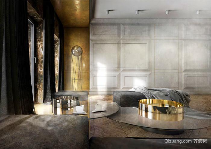 100平米后现代奢华风格室内装修效果图鉴赏