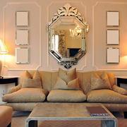 110平米欧式风格客厅沙发背景墙设计效果图鉴赏