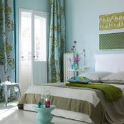 简欧风格一居室卧室窗帘设计效果图赏析