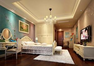 欧式风格大户型卧室整体衣柜设计效果图