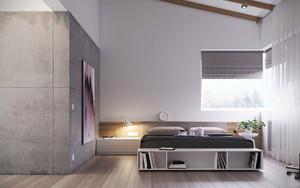 简约风格单身公寓男生卧室装修效果图鉴赏