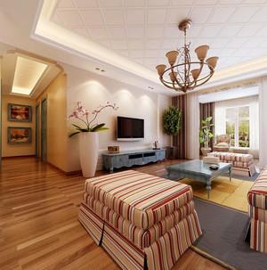 现代美式风格大户型家装客厅吊顶装修效果图