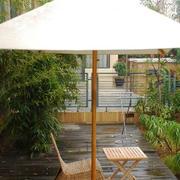 中式风格别墅露台花园装修设计效果图
