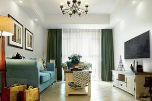 143平米美式田园风格三室两厅室内装修效果图