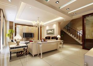欧式风格别墅客厅吊顶设计装修效果图鉴赏